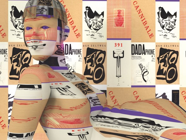 Una delle rielaborazioni digitali del Dada