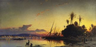 Tramonto sul Nilo (Sunset on the Nile) di Hermann Corrodi