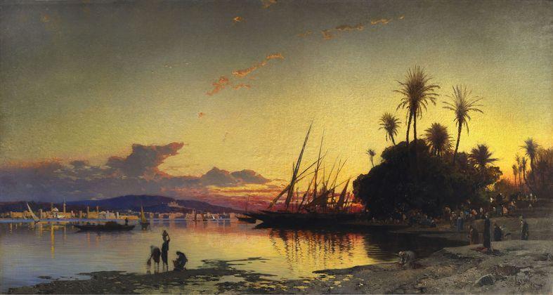 Tramonto sul Nilo (Sunset on the Nile) di Hermann Corrodi