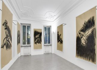 Cosimo Veneziano, Days From a Past Future, 2017. Installation view at Alberto Peola Gallery, Torino. Photo Cristina Leoncini