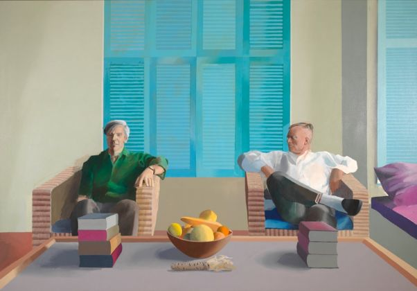 David Hockney, Christopher Isherwood and Don Bachardy, 1968. Private collection. © David Hockney