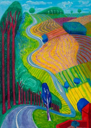 David Hockney, Going Up Garrowby Hill, 2000. Private collection, Topanga, California. © David Hockney