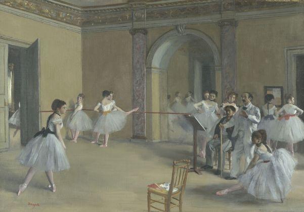 Edgar Degas, Il foyer della danza al teatro dell'Opéra, 1872, olio su tela, 32 x 46 cm, Parigi, Musée d'Orsay © René-Gabriel Ojéda – RMN-Réunion des Musées Nationaux – distr. Alinari