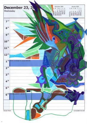 Edi Rama, Untitled (374), mixed media on A4 paper