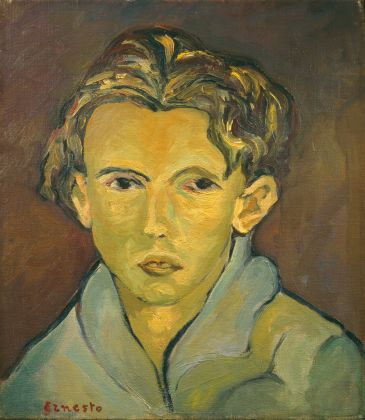 Ernesto Treccani, Autoritratto, 1940-41. Collezione Giuseppe Iannaccone