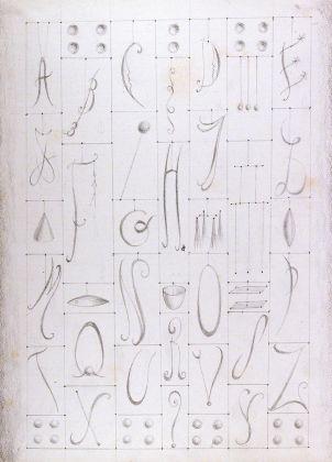 Fausto Melotti, Senza titolo, 1983, matita su carta, 313 x 239 mm, Collezione Galleria Civica di Modena.