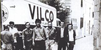 Fiumalbo (MO), agosto 1967. Da sx, Maurizio, Tiziano e Adriano Spatola, Arrigo Lora Totino e Claudio Parmiggiani. Photo Luigi Ferro