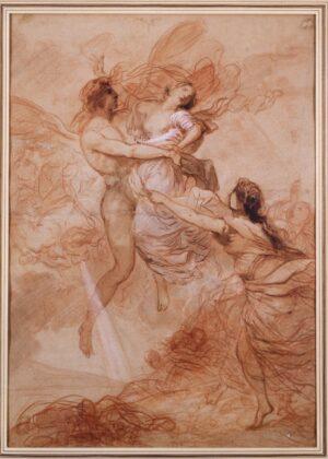 François-André Vincent, Borea rapisce Orizia, 49,5 x 35 cm. Parigi, don Louis-Antoine et Véronique Prat sous réserve d'usufruit au musée du Louvre en 1995