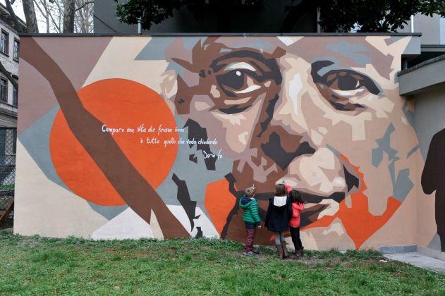 Franca Rame e Dario Fo by Orticanoodles - Ph. Milano Fanpage