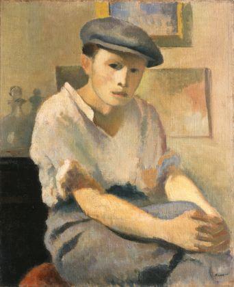 Francesco Menzio, Ritratto di giovane, 1929. Collezione Giuseppe Iannaccone