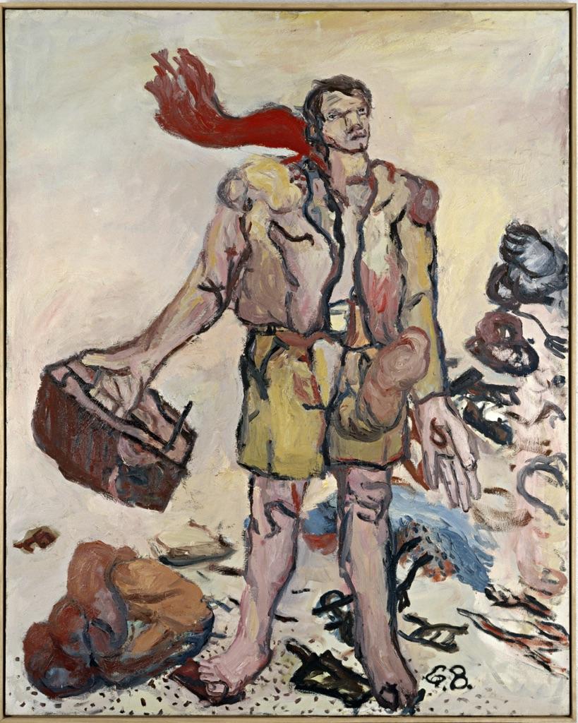 Georg Baselitz, Der neue Typ, 1965, olio su tela. Stoccarda, Collezione Froehlich © Georg Baselitz 2017