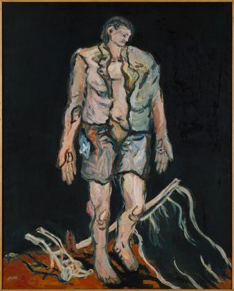 Georg Baselitz, Ein neuer Typ, 1966, olio su tela. Collezione privata © Georg Baselitz 2017. Photo Frank Oleski, Colonia