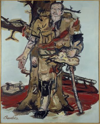Georg Baselitz, Versperrter Maler, 1965, olio su tela. Duisburg, MKM-Museum Küppersmühle für Moderne Kunst, Collezione Ströher © Georg Baselitz 2017. Photo Archiv Sammlung Ströher