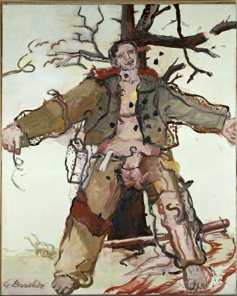 Georg Baselitz, Vorwärts Wind, 1966, olio su tela. Duisburg, MKM-Museum Küppersmühle für Moderne Kunst, Collezione Ströher © Georg Baselitz 2017