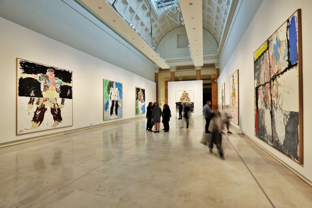 Georg Baselitz. Gli Eroi. Exhibition view at Palazzo delle Esposizioni, Roma 2017