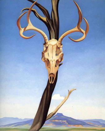 Georgia O'Keeffe, Deers Skull with Pedernal