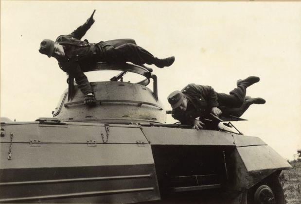 German Border Patrol at maneuvers, Coburg, Germany, 1953. © Erich Lessing - Magnum Photos
