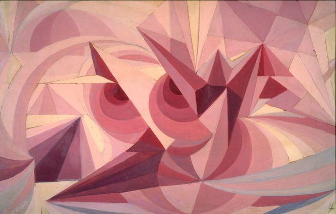 Giacomo Balla, Linee forza di paesaggio + sensazione di ametista, 1918. Dono Elica e Luce Balla, 1984 © Galleria Nazionale d'Arte Moderna e Contemporanea di Roma
