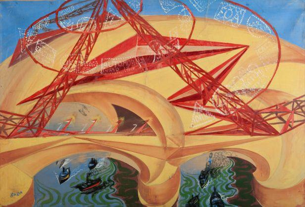 Giacomo Balla, Ponte della velocità, 1913-15. Dono Elica e Luce Balla, 1984 © Galleria Nazionale d'Arte Moderna e Contemporanea di Roma