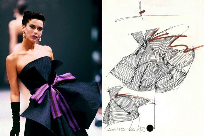 Gianfranco Ferrè. Moda, un racconto nei disegni, Cremona, 2017. Alta moda autunno-inverno 1987