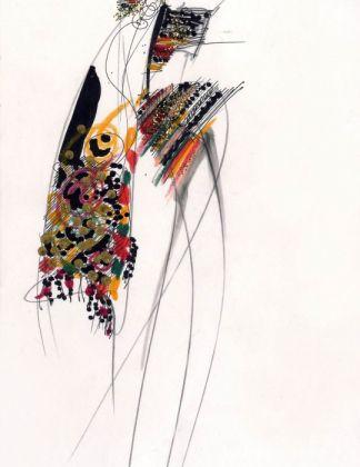 Gianfranco Ferrè. Moda, un racconto nei disegni, Cremona, 2017. Uno schizzo del 1989