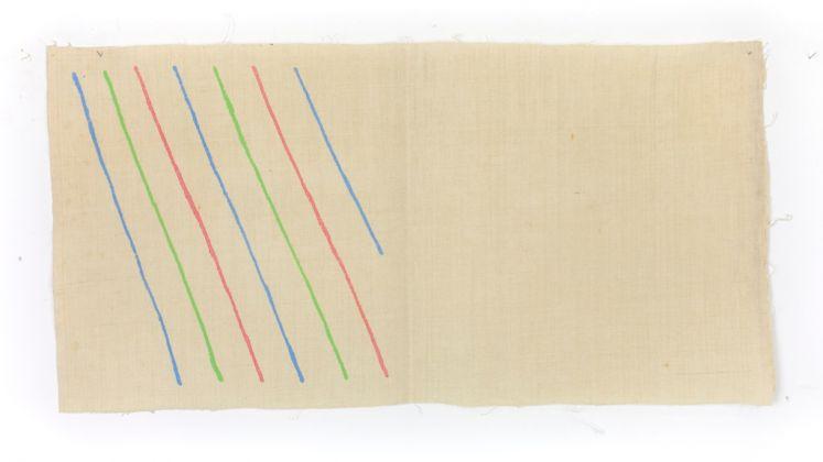 Giorgio Griffa, Obliquo, 1973. Courtesy of Galleria Lorcan O'Neill