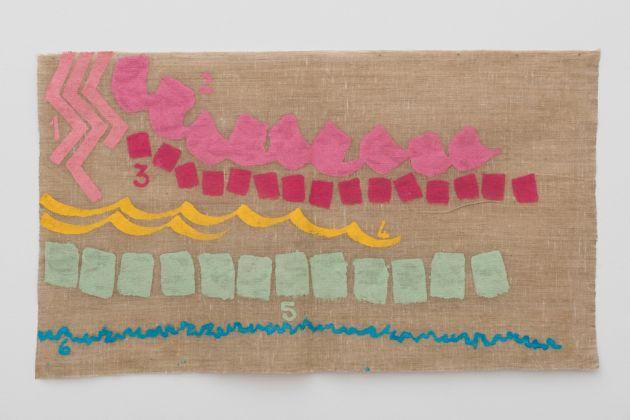Giorgio Griffa, Sei colori, 1999. Courtesy of Galleria Lorcan O'Neill