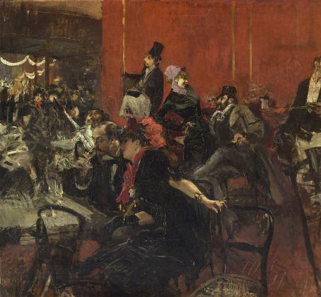 Giovanni Boldini, Scena di festa (o Scena di festa alle Folies-Bergère), 1889 circa, olio su tela, 96,8 x 104,7 cm, Parigi, Musée d'Orsay © René-Gabriel Ojéda – RMN-Réunion des Musées Nationaux – distr. Alinari