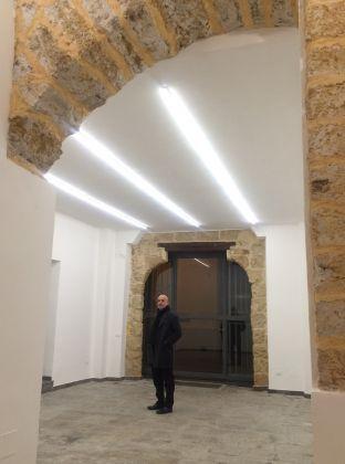 Giovanni Rizzuto all'interno del nuovo spazio
