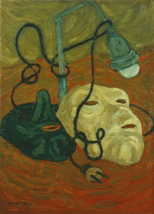 Giuseppe Migneco, Natura morta con maschere, 1941. Collezione Giuseppe Iannaccone