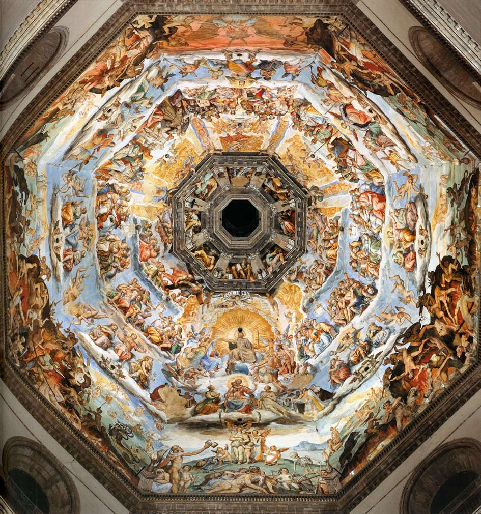 Gli affraschi di Giorgio Vasari all'interno della Cupola del Brunelleschi