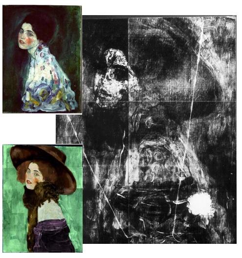 Gli studi in laboratorio sulla figura nascosta sotto il Ritratto di Signora di Klimt