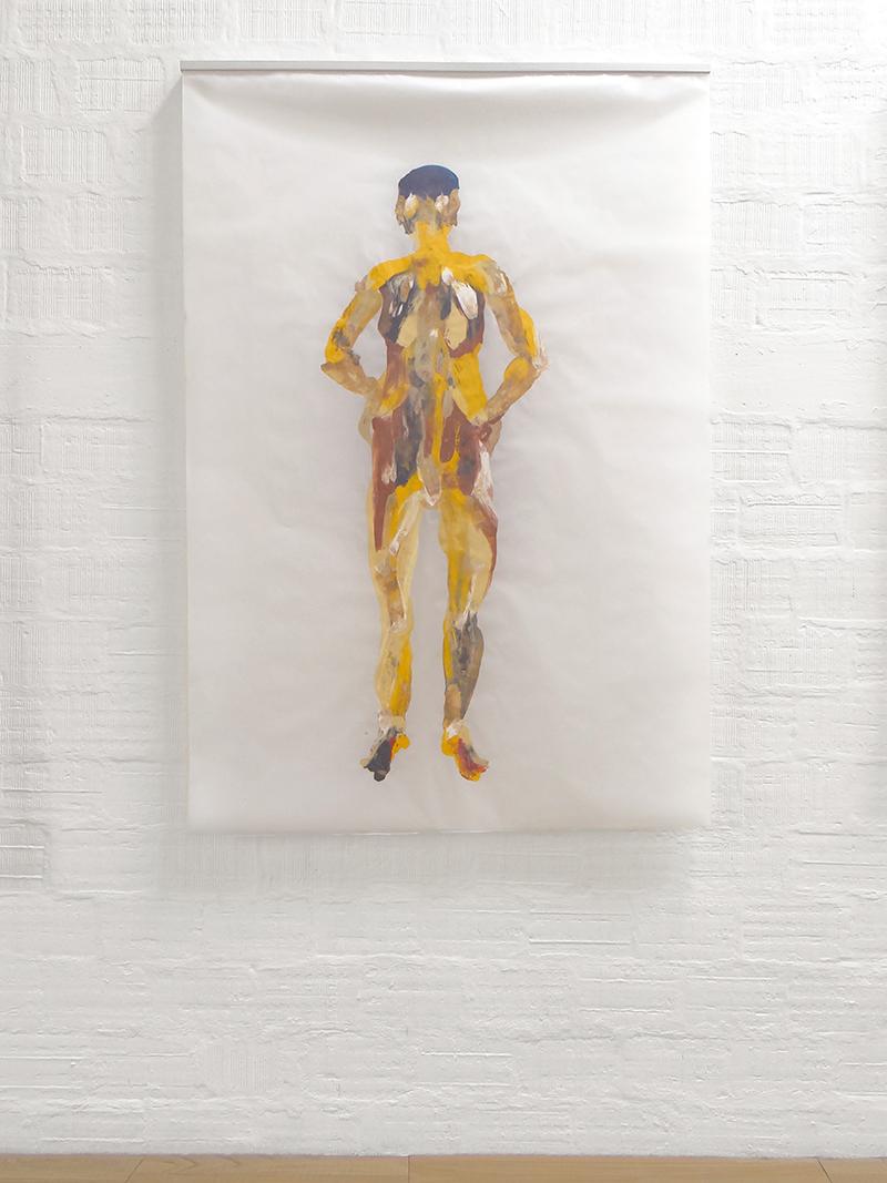 Graziano Folata Eminence / Venus, 2017 Folata's engraving oil bar, papier satin 200 x 150 cm courtesy l'artista e Galleria Massimodeluca