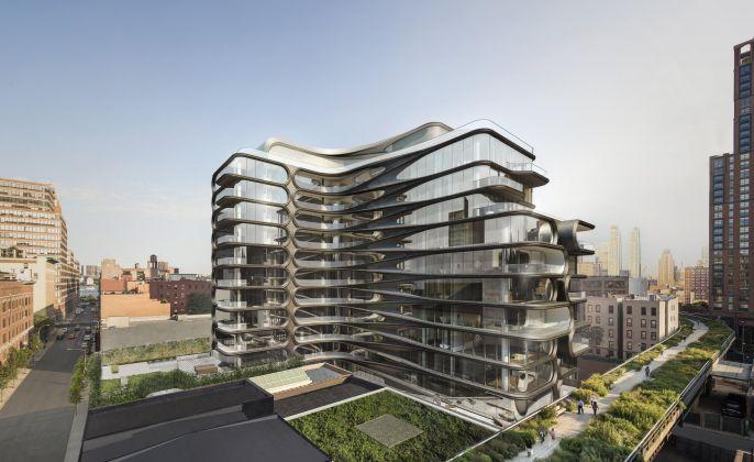 Il progetto dello studioZaha Hadid Architectsa New York (render Hayes Davidson)