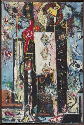 Jackson Pollock, Male and Female, 1942–43. Philadelphia Museum of Art. © The Pollock-Krasner Foundation VEGAP, Bilbao, 2016