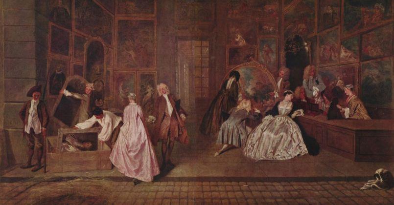 Jean-Antoine Watteau, L'insegna di Gersaint, 1720-21. Staatliche Museen, Berlino