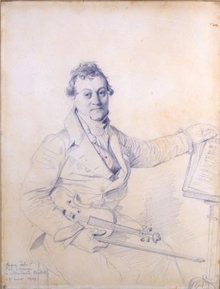 Jean Auguste Dominique Ingres, Ritratto di Pierre Baillot, 36,1 x 28 cm. Parigi, collezione Prat