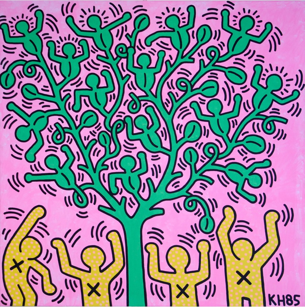 Keith Haring, Tree of Life, 1985