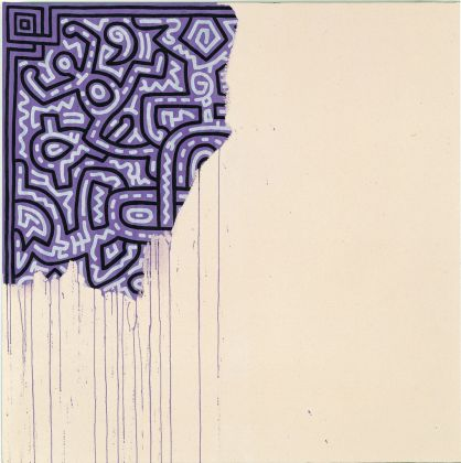 Keith Haring, Unfinished painting, 1989. Collezione privata © Keith Haring Foundation