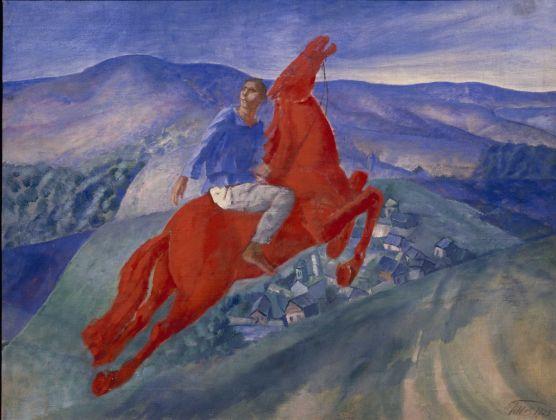 Kuzma Petrov-Vodkin, Fantasia, 1925. Olio su tela, 50 x 64.5 cm. Museo di Stato Russo, San Pietroburgo. Foto (c) 2016, Museo di Stato Russo, San Pietroburgo. Courtesy Royal Academy of Arts, Londra