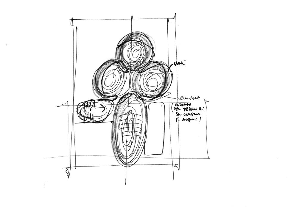 MCA–Mario Cucinella Architects, Museo d'arte etrusca, Milano. Schizzo