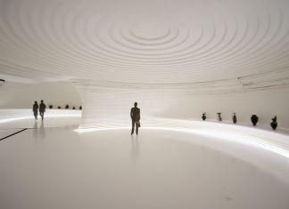 MCA–Mario Cucinella Architects, Museo d'arte etrusca, Milano. Sezione ipogea, rendering dell'interno. Courtesy ParisRender