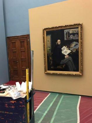 Manet e la Parigi moderna, Palazzo Reale, Milano - allestimento, work in progress