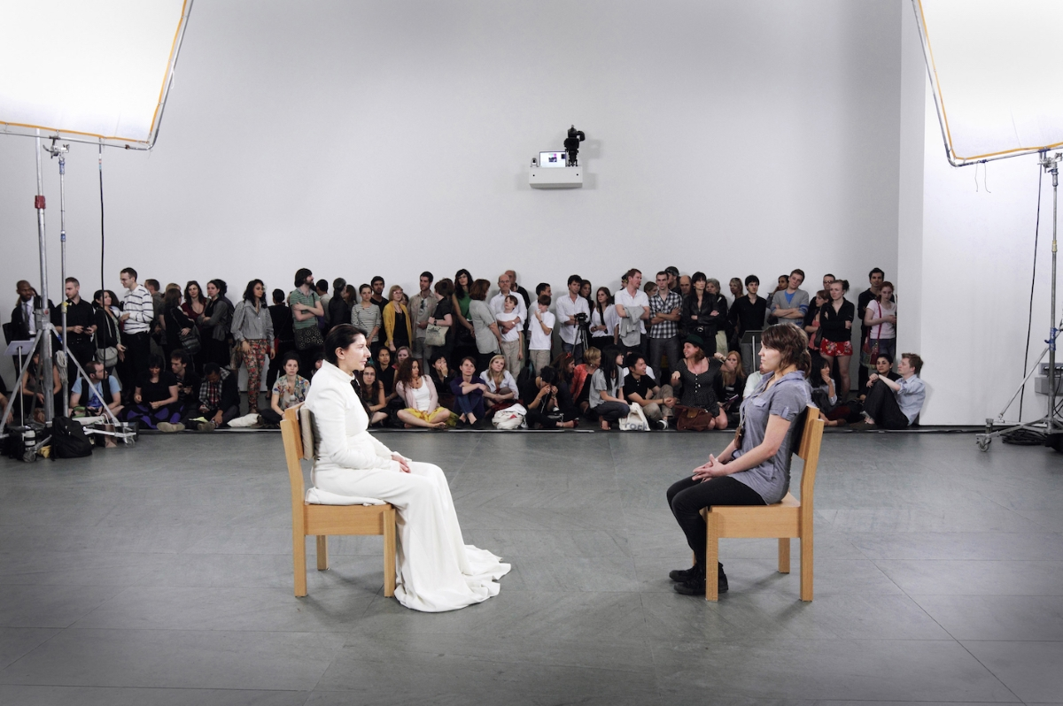 Marina Abramović, The Artist is Present, performance, 3 months, The Museum of Modern Art, New York, photo Marco Anelli (for MoMA), Courtesy the Marina Abramović Archives © Marina Abramović