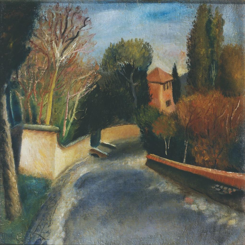 Mario Mafai, Strada con casa rossa,1928. Collezione Giuseppe Iannaccone