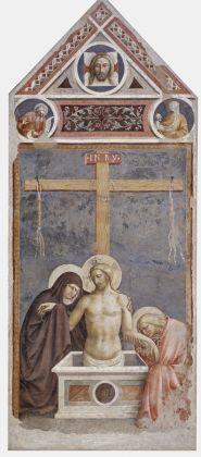Masolino da Panicale, Cristo in pietà, 1424. Affresco staccato, cm 280 x 118. Empoli, Museo della Collegiata di Sant'Andrea. Photo Antonio Quattrone
