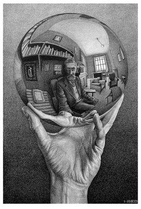 Maurits Cornelis Escher, Mano con sfera riflettente