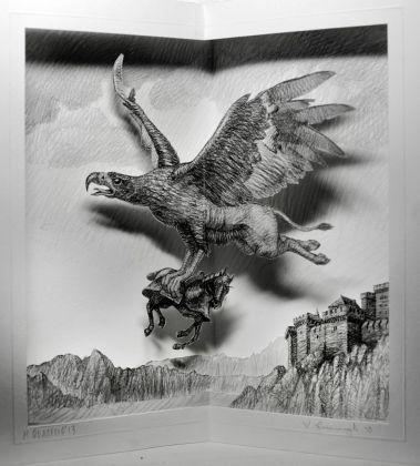Maurizio Quarello, Manuale di zoologia fantastica #1, 2013. Courtesy Galleria Tricromia, Roma