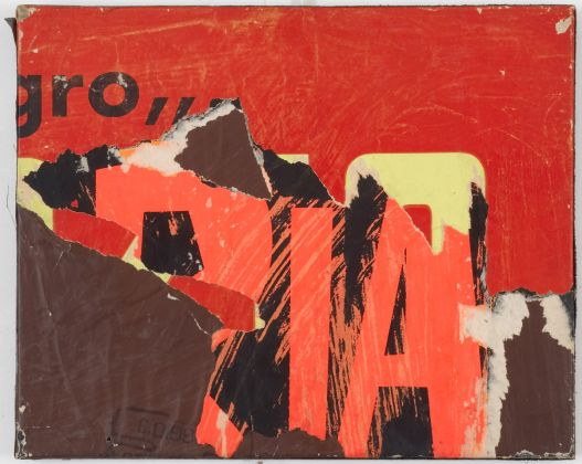 Mimmo Rotella, Ria, 1958, décollage on canvas, 33.7 x 40.6 x 2.5 cm © 2017 Mimmo Rotella by SIAE