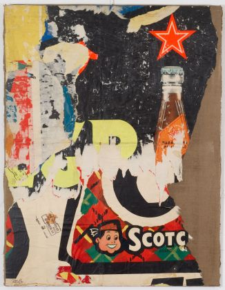 Mimmo Rotella, Scotch Brand, 1958-1959, décollage on canvas, 130.2 x 99.7 x 2.5 cm © 2017 Mimmo Rotella by SIAE